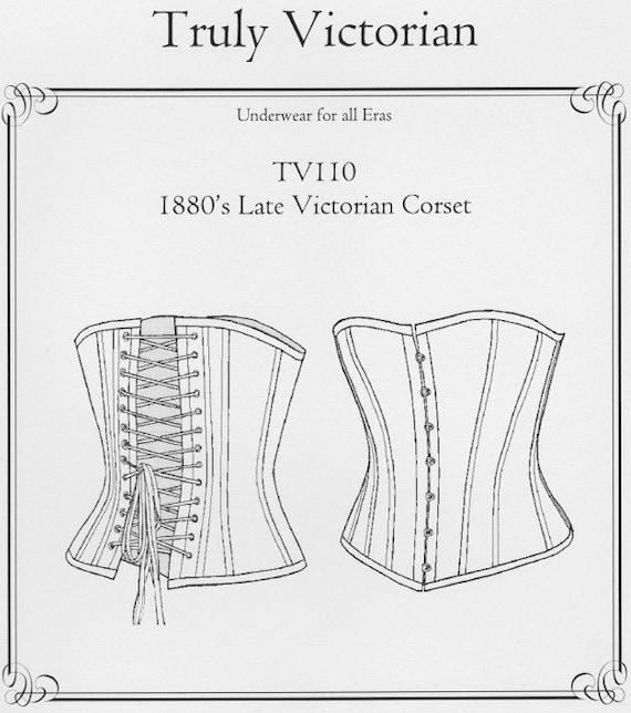 TV110 1880 späten viktorianischen Korsett Schnittmuster von