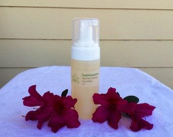 Foaming Organic Face Wash with Tea Tree Oil.