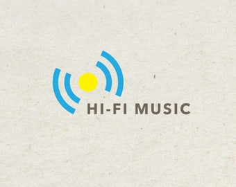 Pre-Made LOGO DESIGN - Customized with Your Name - Hi-Fi Music Logo
