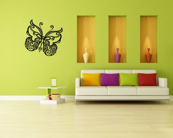 Wall Vinyl Sticker Decals Mural Room Design Pattern Butterfly Wings Nature bo219