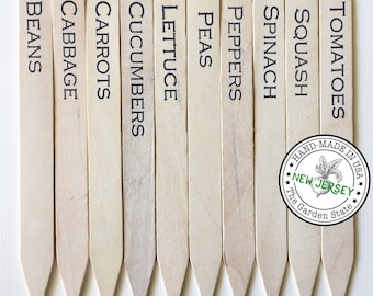 Fruit & Vegetable Garden Markers / Garden Tags / Plant Labels in Rustic White - Made with Durable and Eco-Friendly Materials