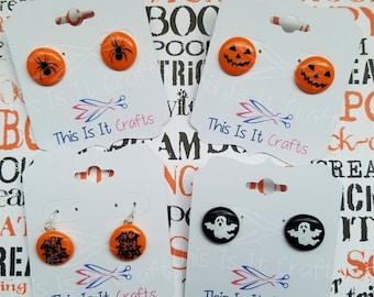 Halloween Perler Bead Earrings