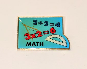 Vintage Math Pin, Math Problem Pin,Math Class Pin,Teacher Pin