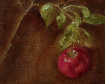 Apple Original Fruit Oil Painting