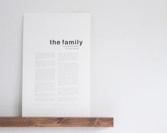 Family Proclamation  |  Modern  |  LDS Print
