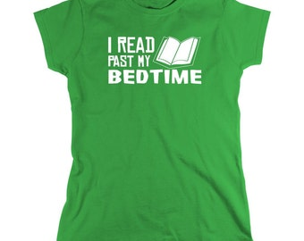I Read Past My Bedtime Shirt, book club, funny book shirt - ID: 623