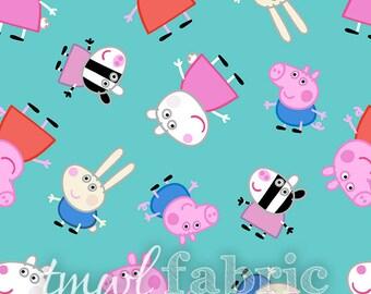 Woven Fabric - Nick Jr. Peppa Pig & Friends - Fat Quarter Yard +