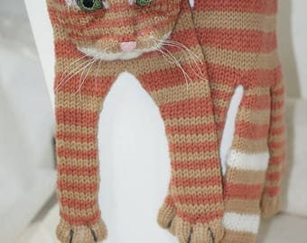 Ginger Tabby Cat Knitting Cat Scarf Scarf Animal knitting scarf-Cat Lover
