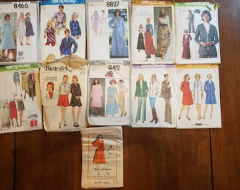 B- Mixed Lot of 1970s Sewing Patterns