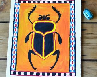 Original illustration: beetle, ancient Egypt