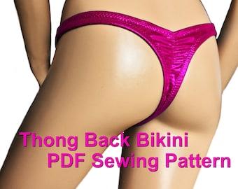 Thong Back Bikini Bottom (5 Sizes)