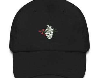Roses & Heart dad hat