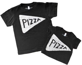 Kids Pizza Shirt Black, children, gift for toddler, baby gift, kid graphic tee tmnt, funny tshirt, son daughter gift, children birthday