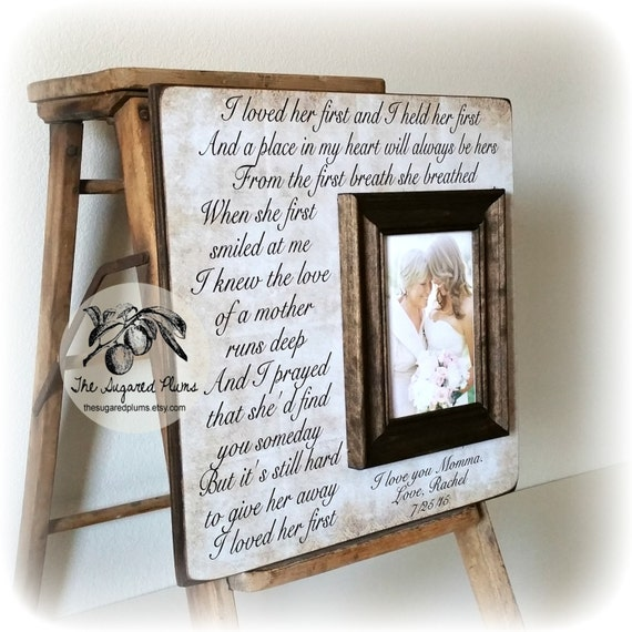 Mother Of The Bride Gift Ideas from Daughter, Personalized Picture ...