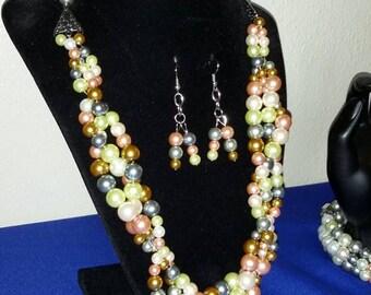 SK2536 mix vine necklace set