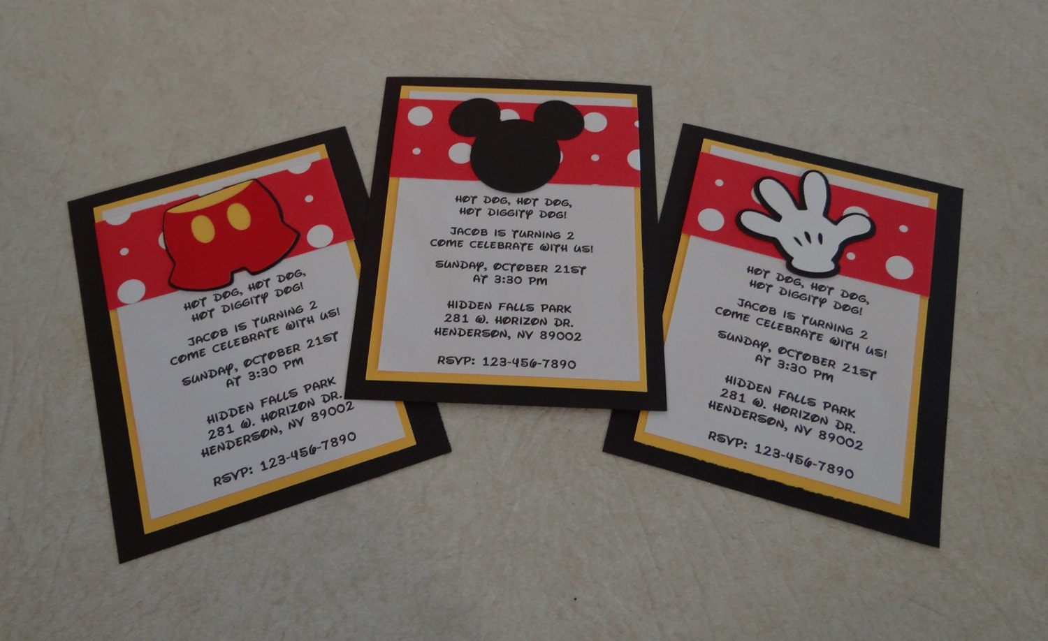 how to make a mickey mouse invitation - Roho.4senses.co