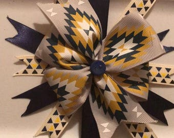 Blue and Gold Barrette
