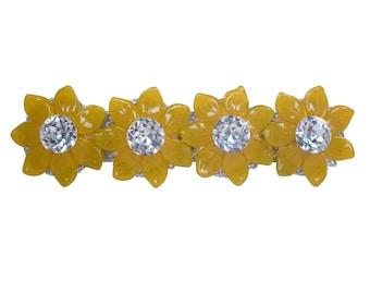 "Crystal Drawer Pull Swarovski/Decorative Drawer Pull/Unique Art Deco Pull/Girls Dresser Pull/Bling Crystal Drawer Handles/Yellow/3"",3-3/4"""