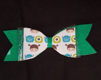 Monsters inc inspired hair bow