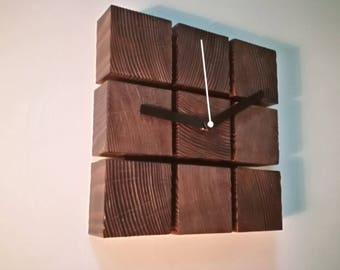 """THE CUBE"" wooden wall Clock"