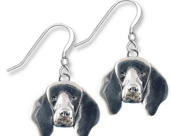 Sterling Silver Coonhound Earrings