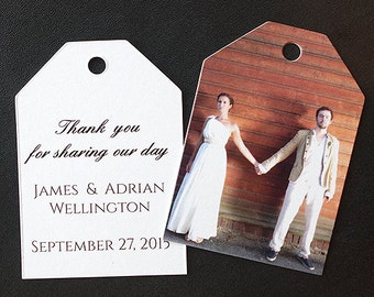 Gift Tags with Photo for Weddings (Ticket Tags)