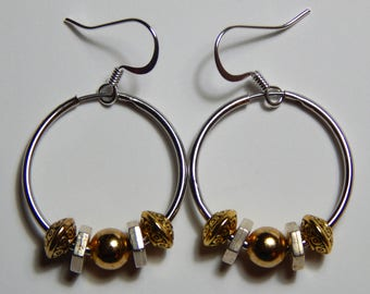 Hoops and Mixed Metal Earrings with Surgical Steel Earwires