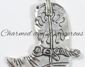 Pewter Boot with Spur pendant (P4)