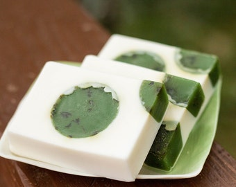 Handmade Shea Butter and Glycerin Soap - Rosemary Mint Soap with Crushed Rosemary // Gifts for Her // Gifts for Him