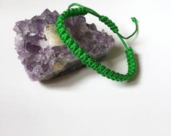 Green bracelet, Shamballa Bracelet, Cord Bracelet, Yoga Bracelet, Friendship Bracelets, Inspirational Bracelet, Personalized String Bracelet