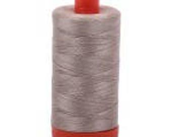 Rope Beige Aurifil Mako Cotton Thread Color 5011, 50 wt, 1300m dark cream grey brown beige thread