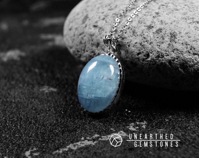 Aquamarine with Schorl Necklace