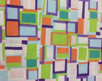 Jane Makower Cotton Dress Fabrics – Geometrics & Lace Stories - Crazy Squares 65