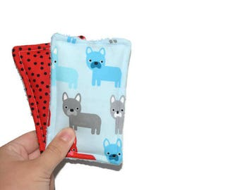 Reusable Sponge | Unsponge | Eco Friendly | Cleaning or Kitchen Sponge | Cotton and Terry Cloth | Urban Zoologie | Dog | Puppy | Polka Dots
