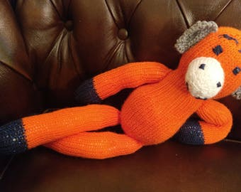 Home made knitted monkey teddy
