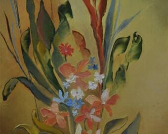 Oil on canvas: algae flowers