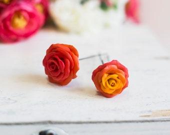 hair pin - hair pin rose- roses in her hair