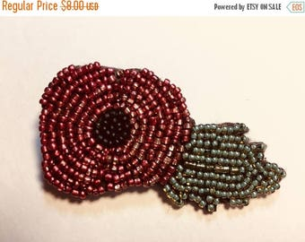 On sale -30% Beaded Poppy Pin