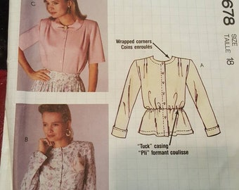 McCalls # 4678 Busy Woman's sewing pattern from McCalls  size 18