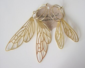 Inspirational,Dragonfly Wing Earrings,Fairytale Gift,Butterfly earrings,Butterfly Wing Earrings,Brass,Girlfriend gift,Modern,Nature inspired