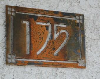 Personalized Address Metal Sign - Custom Address sign