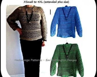 Pullover Sweater crochet pattern, Mesh summer sweater, Unisex crochet sweater, 5 hour project, new style, #2191, women's clothing, teen, men