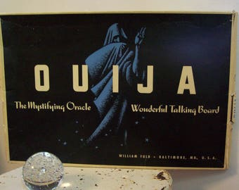 Vintage original Ouija Board oversized early William Fuld in original box 1940's 1950's great condition