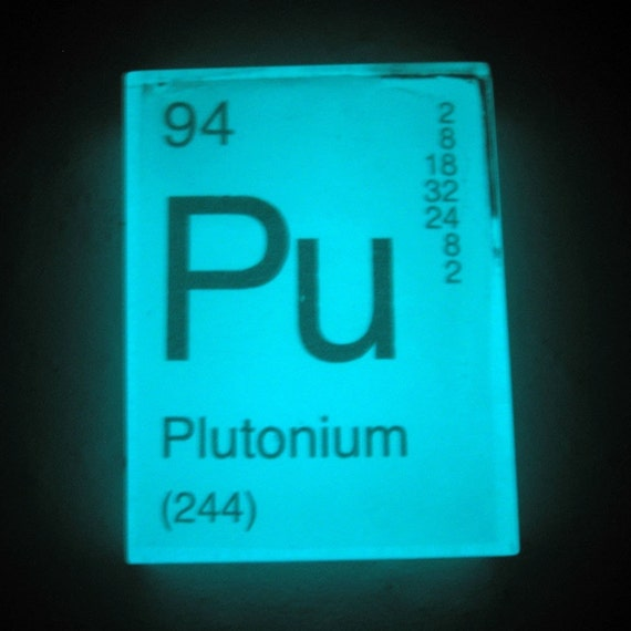 in your element periodic table soap plutonium glows in