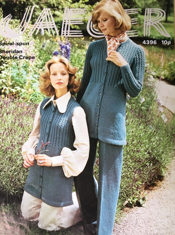 Ladies Knitting Pattern Jaeger Vintage Knitting Pattern Ladies