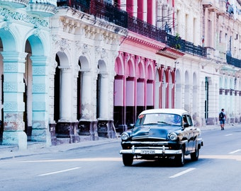 Havana Cuba Photography, Black Classic Car in Cuba, Havana Poster, Havana Cuba, Havana Print, Cuban Art Print, Havana Art, Car Prints