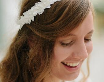 Flower Hairpiece | Wedding Hairpiece | Bridal Hairpiece | Bridesmaid Headband | Flower Girl Headband | Photo Prop | Keepsake Gift | Heirloom