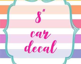 """8"""" Logo Car Decal - Your Choice of Full Color or White"""