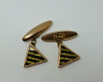 Antique Cuff Links 9CT Gold Gilt, Early 1900s, Men's Cufflinks, For the Groom, Wedding, Gift for Him