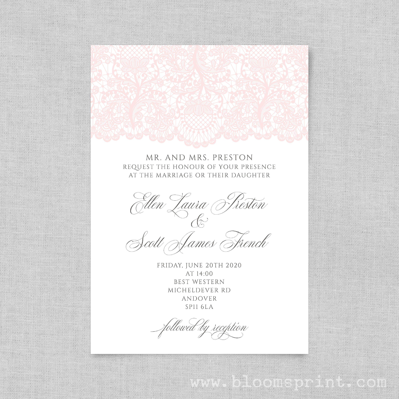 Wedding invitation printable Simple wedding invitation Wedding